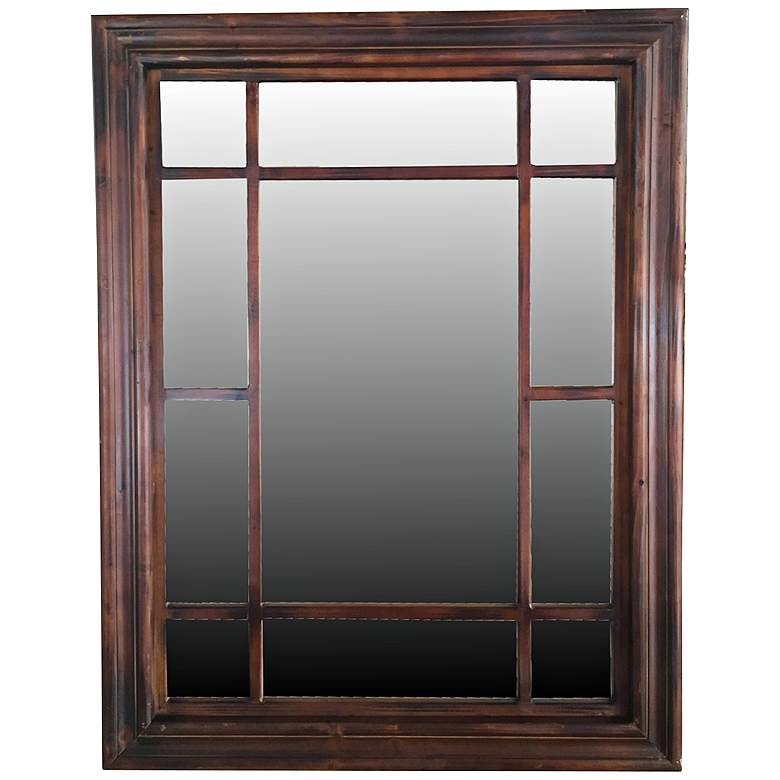 "Crestview Granito Red Stain 33"" x 43 1/2"" Wall Mirror"