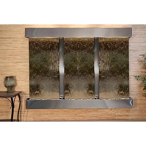 """Deep Creek Falls 69""""H Steel Bronze Mirror Fountain-Sq Edges"""