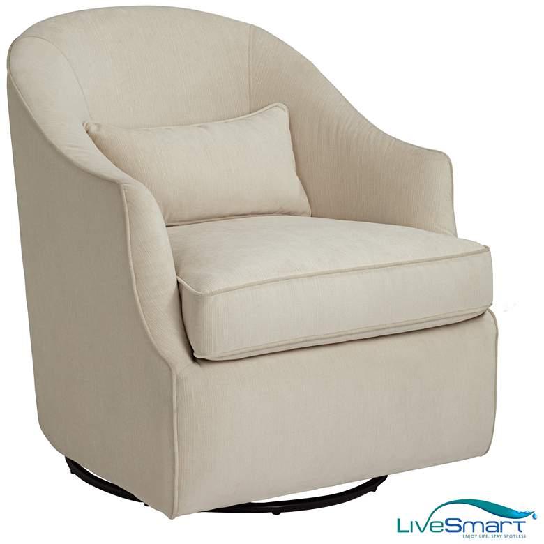 Infinity Snowdrift White Swivel Accent Chair