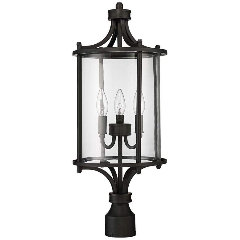 """Carlton 24"""" High Aged Brushed Bronze Outdoor Post Light"""