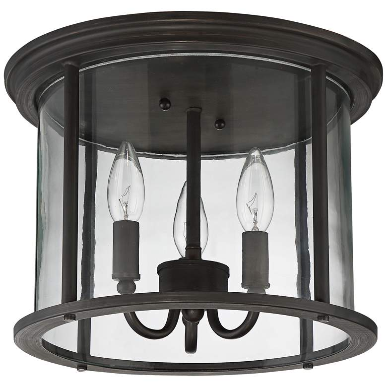 """Carlton 13"""" Wide Aged Brushed Bronze Outdoor Ceiling Light"""