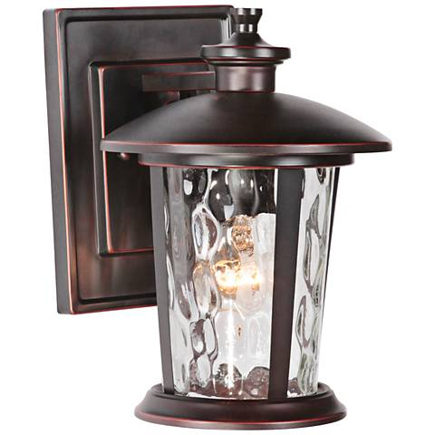 "Summerhays 11"" High Gilded Oiled Bronze Outdoor Wall Light"