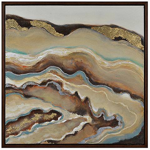 "Flowing 31 1/2"" Square Framed Oil Painting Wall Art"