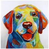 """Crestview Collection Roz Hand-Painted 40"""" Square Wall Art"""