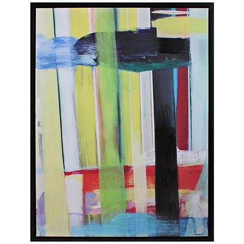 """Crestview Collection Galaxy I 40"""" High Linen Framed Wall Art"""