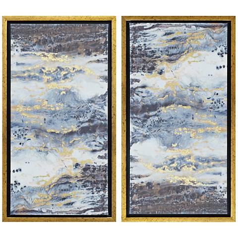 """Eclipse Embellished 2-Piece 24""""H Framed Canvas Wall Art Set"""