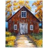 "Country Scene II Hand-Painted 50"" High Wall Art"