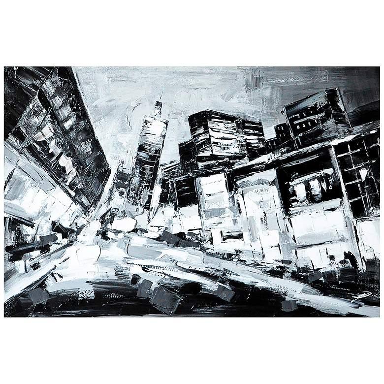 """Crestview Collection Deep City 47"""" Wide Linen Wall"""