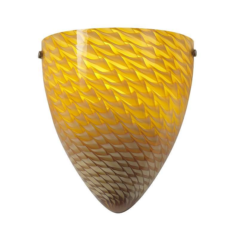 Amber Art Glass Fluorescent Wall Sconce