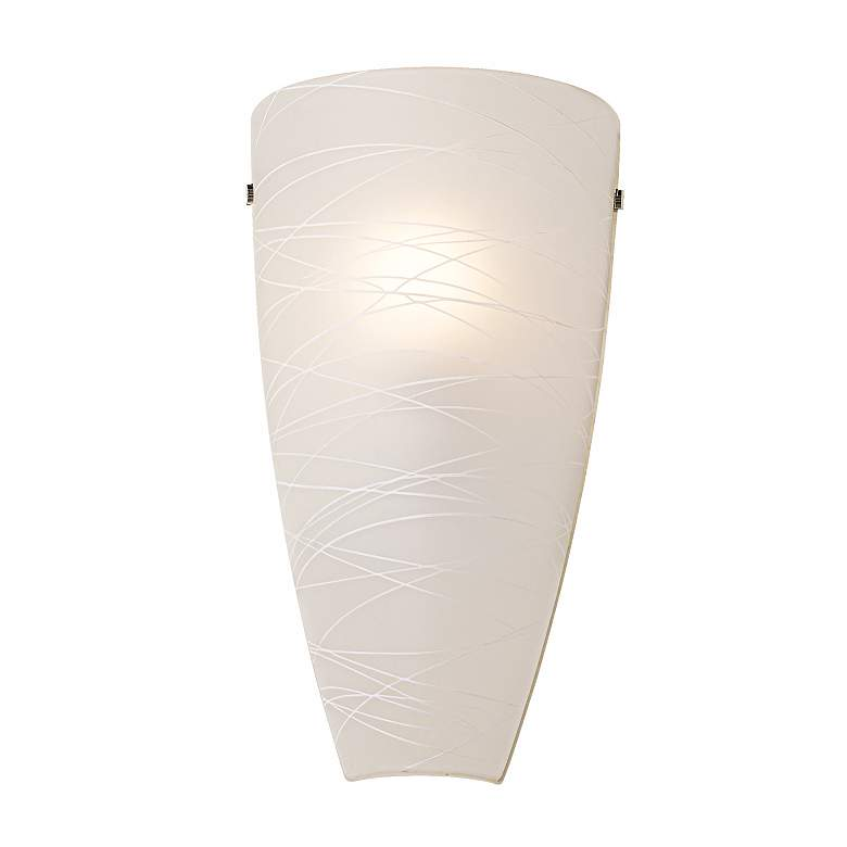 """Isola 13 1/4"""" High White Striped Glass Wall Sconce"""
