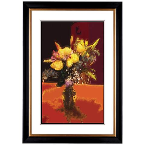 "Giclee Spring Flowers 41 3/8"" High Wall Art"