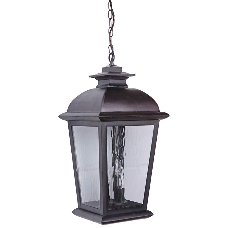 "Craftmade Branbury 22""H Oiled Bronze Outdoor Hanging Light"