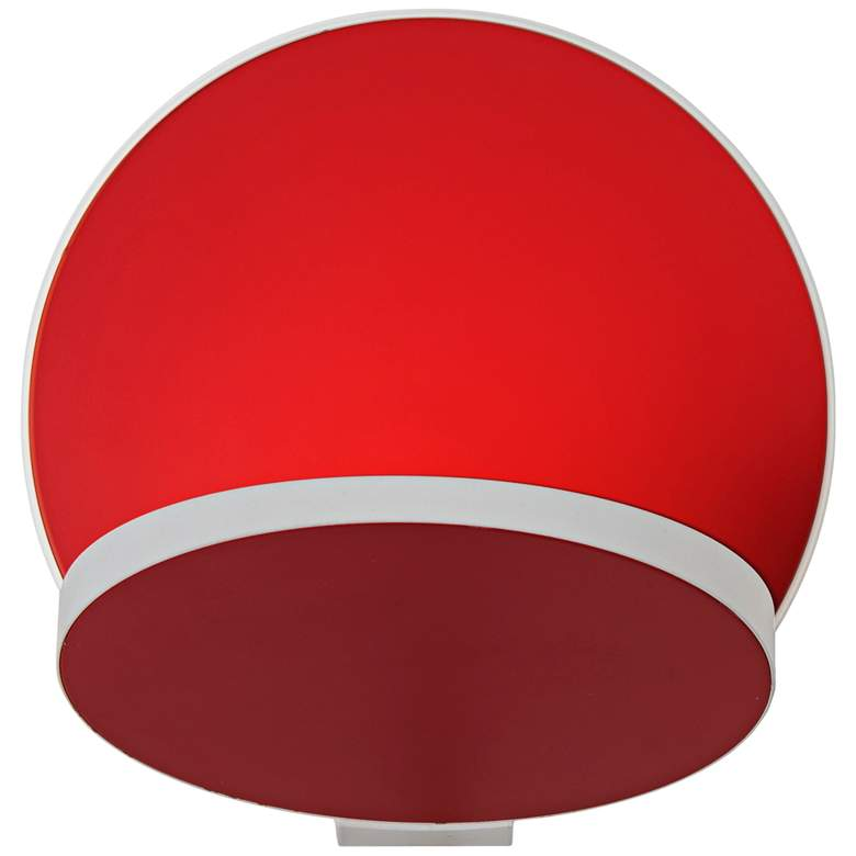 """Koncept Gravy 5""""H White and Matte Red Swivel LED Wall Sconce"""