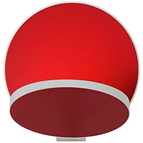 "Koncept Gravy 5""H White and Matte Red Swivel LED Wall Sconce"