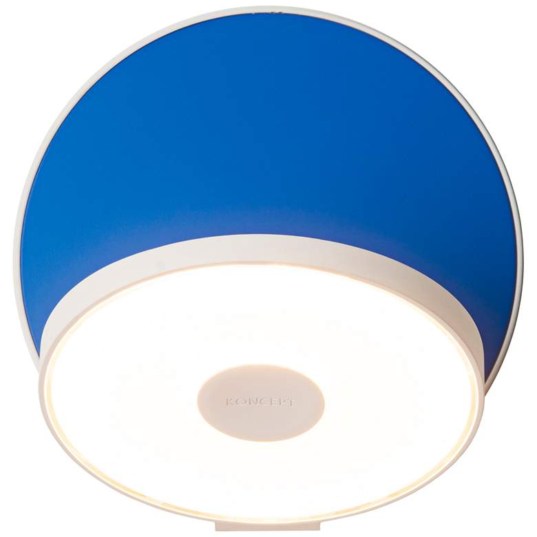 "Koncept Gravy 5"" High White and Blue Swivel"