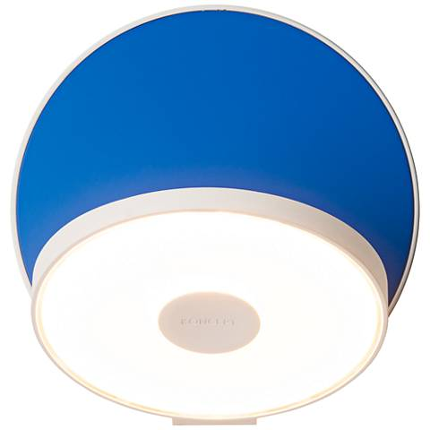 """Koncept Gravy 5"""" High White and Blue Swivel LED Wall Sconce"""