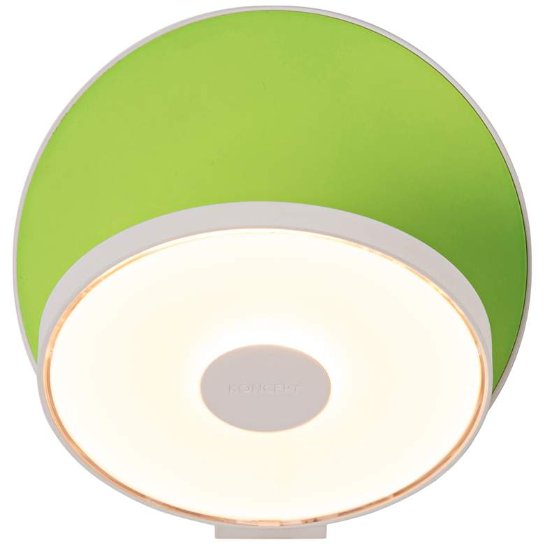 "Koncept Gravy 5"" High White and Green Swivel LED Wall Sconce"