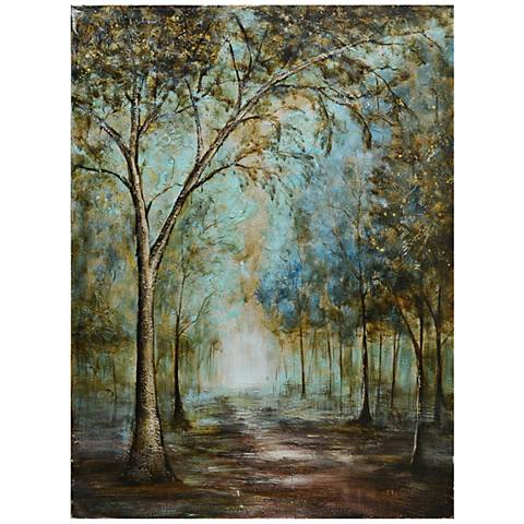 """Crestview Peaceful Path 48"""" High Stretched Canvas Wall Art"""