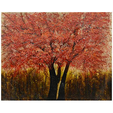 """Crestview Collection Amber Glow 50"""" Wide Canvas Wall Art"""