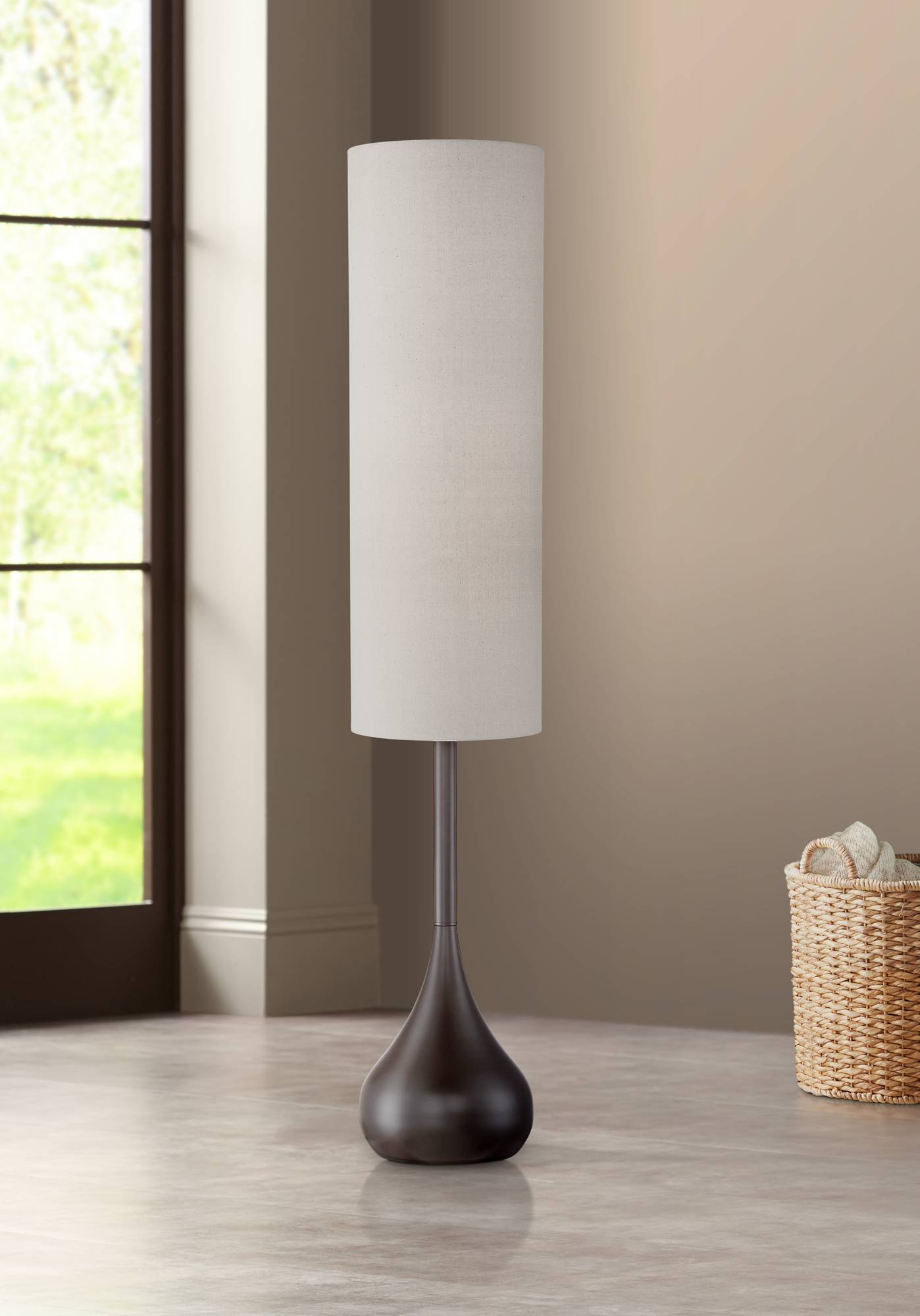 Details About Mid Century Modern Floor Lamp Bronze Metal Droplet For Living Room Reading