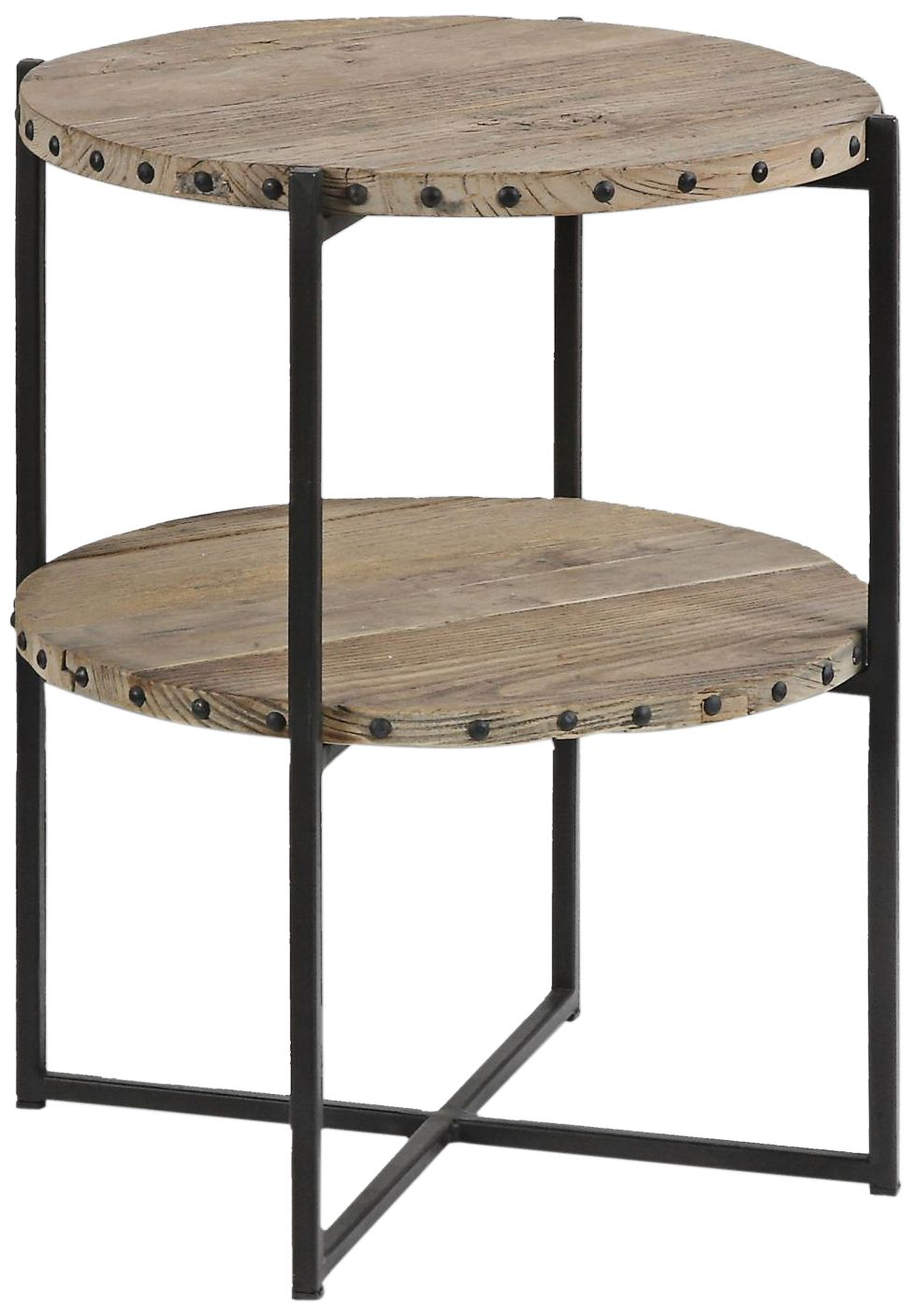 Uttermost Kamau Dark Brown Iron And Wood Accent Table