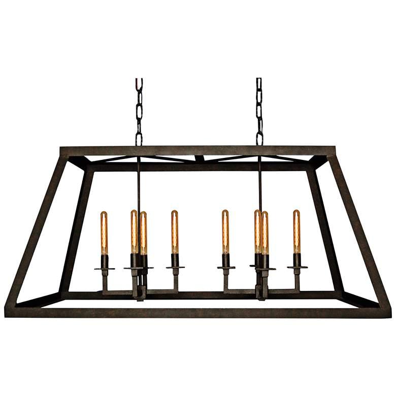 """Energy 52"""" Wide Bronze Rust Kitchen Island Light Chandelier"""