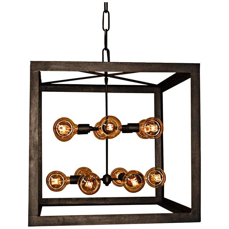 "Laura Lee Edison 26"" Wide Bronze Rust 12-Light Pendant"