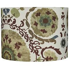 Drum 15 in and up print pattern lamp shades lamps plus floral green paisley hardback drum lamp shade 15x15x11 spider aloadofball Choice Image