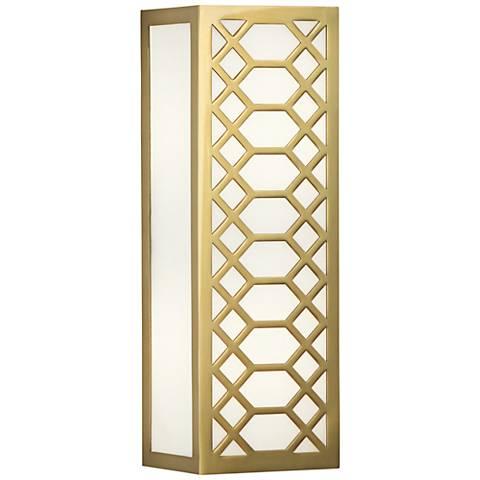 "Tucker 14 1/2"" High Antique Brass Wall Sconce"