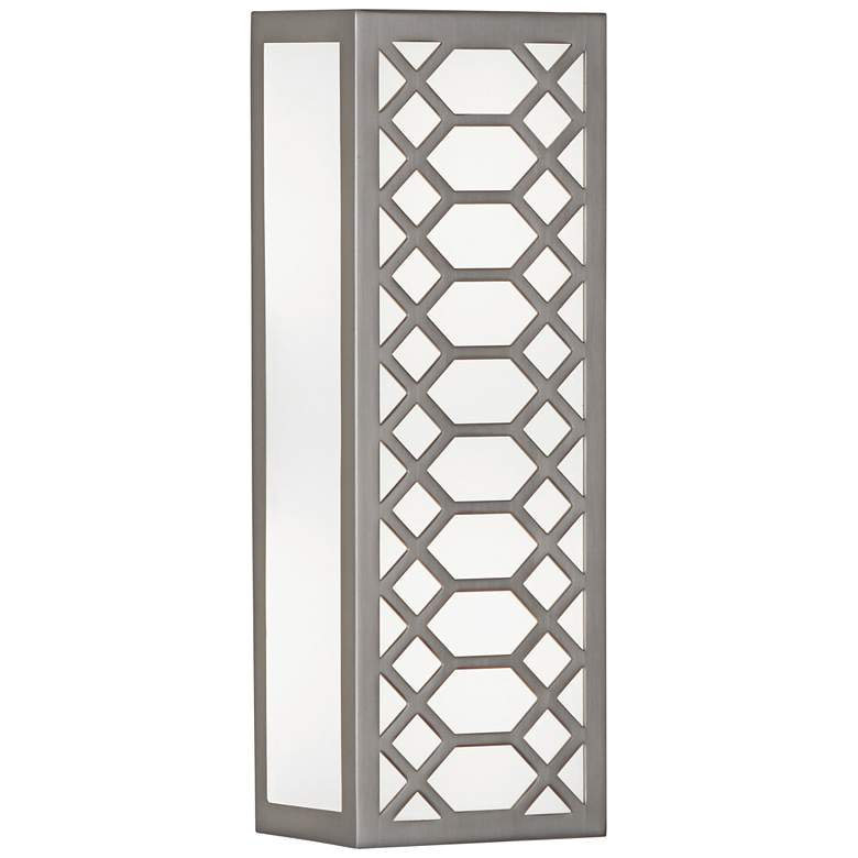 """Tucker 14 1/2"""" High Brushed Nickel Wall Sconce"""