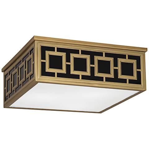 """Jonathan Adler Parker 15 1/2""""W Antique Brass Ceiling Light"""
