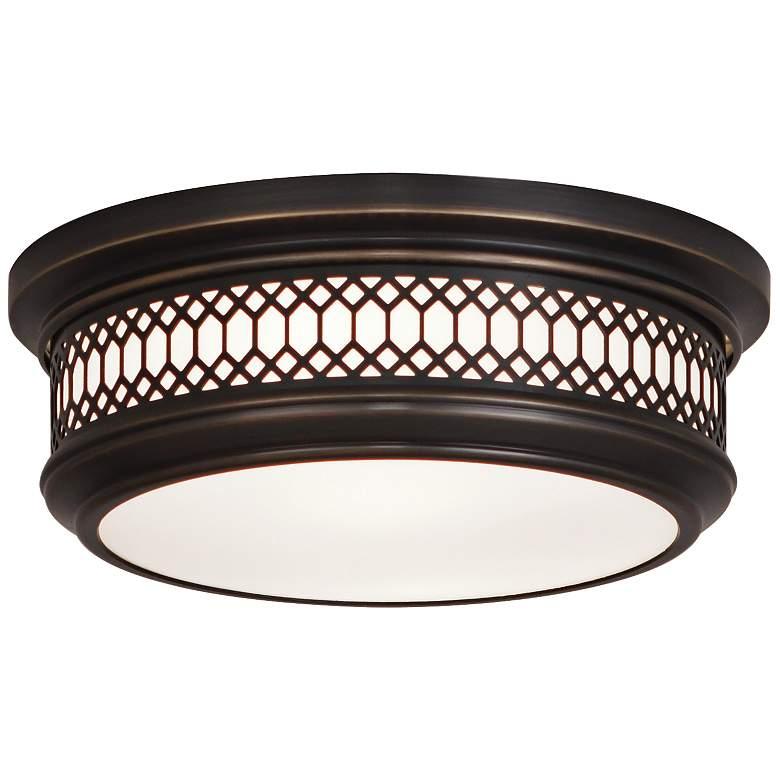 "Tucker 10 3/4"" Wide Patina Bronze Ceiling Light"