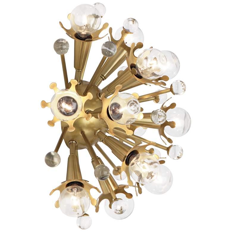 """Jonathan Adler Sputnik 13 1/2""""H Antique Brass Wall"""