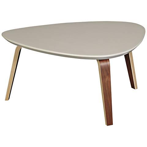 Stacey Ivory Top and Dark Walnut Medium Coffee Table