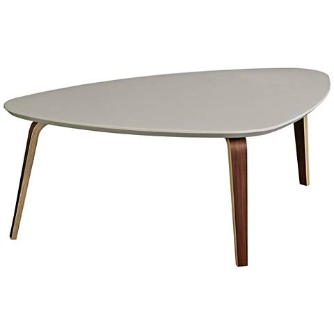Stacey Ivory Top and Dark Walnut Large Coffee Table