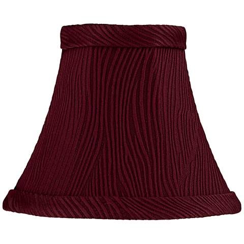 Ritsem Wine Ribbed Softback Bell Lamp Shade 3x6x5 (Clip-On)