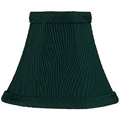 3 to 7 inch chandelier shades green clip on chandelier lamp ritsem green ribbed softback bell lamp shade 3x6x5 clip on aloadofball Image collections