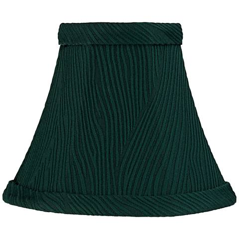 Ritsem Green Ribbed Softback Bell Lamp Shade 3x6x5 (Clip-On)