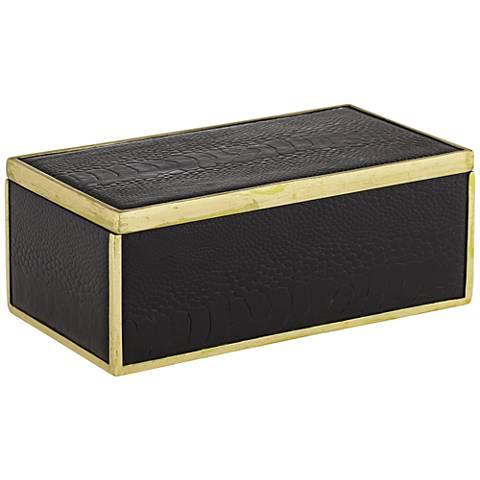 Lincoln Black and Gold Decorative Box