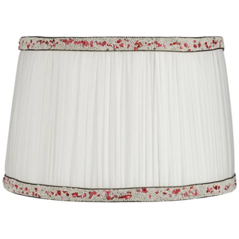 Polla White Shirring Pleat Drum Lamp Shade 12 5x14 5x9 5