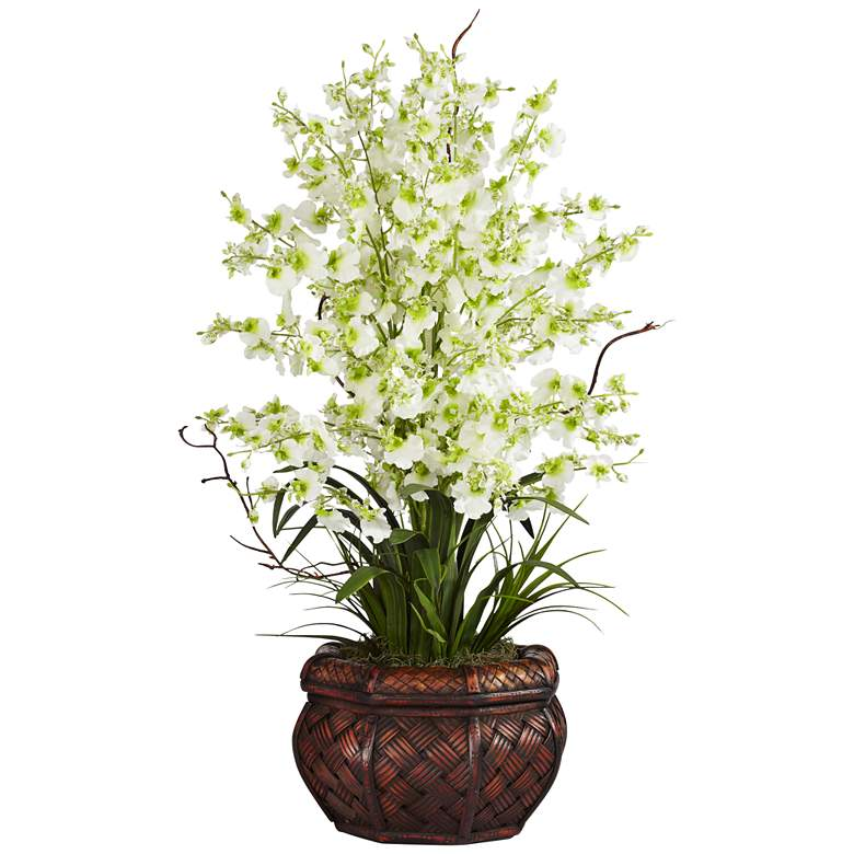 """Green Dancing Lady 30"""" High Faux Flowers in"""