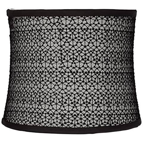 Cobweb Black Cotton Drum Lamp Shade 11x12x10 (Spider)