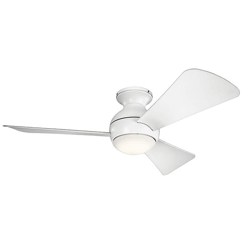 """44"""" Sola Matte White Wet LED Hugger Ceiling Fan"""