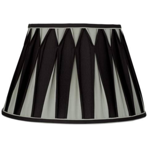 Geneva Gray And Black Pleat Empire Lamp Shade 10x16x10 5