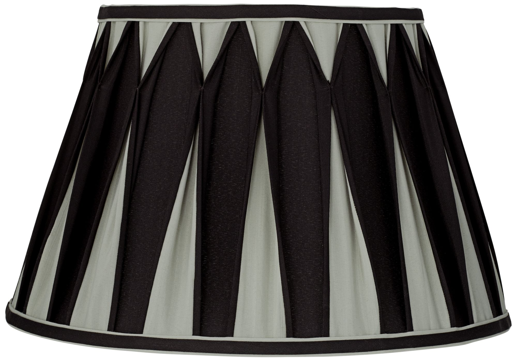 Geneva Gray And Black Pleat Empire Lamp Shade 10x16x10.5 (Spider)