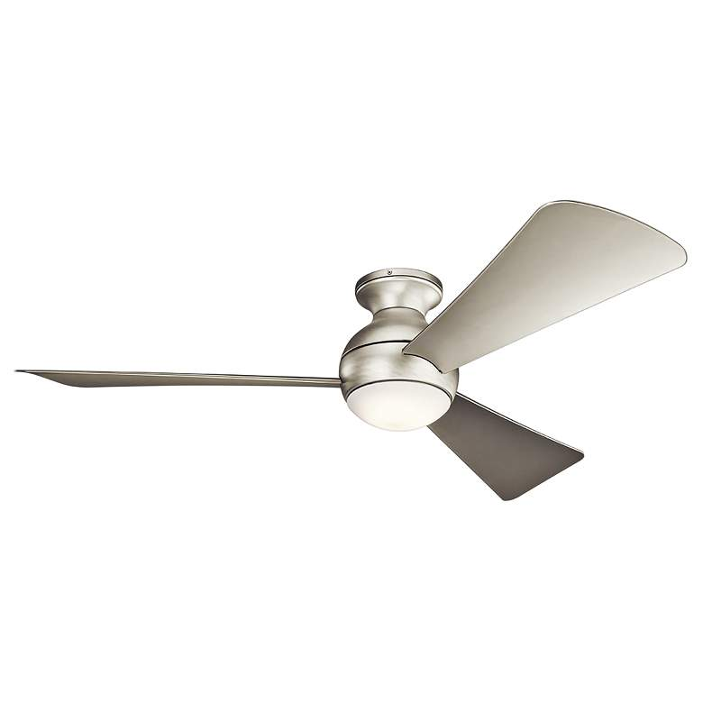 """54"""" Sola Satin Nickel Wet LED Hugger Ceiling Fan"""
