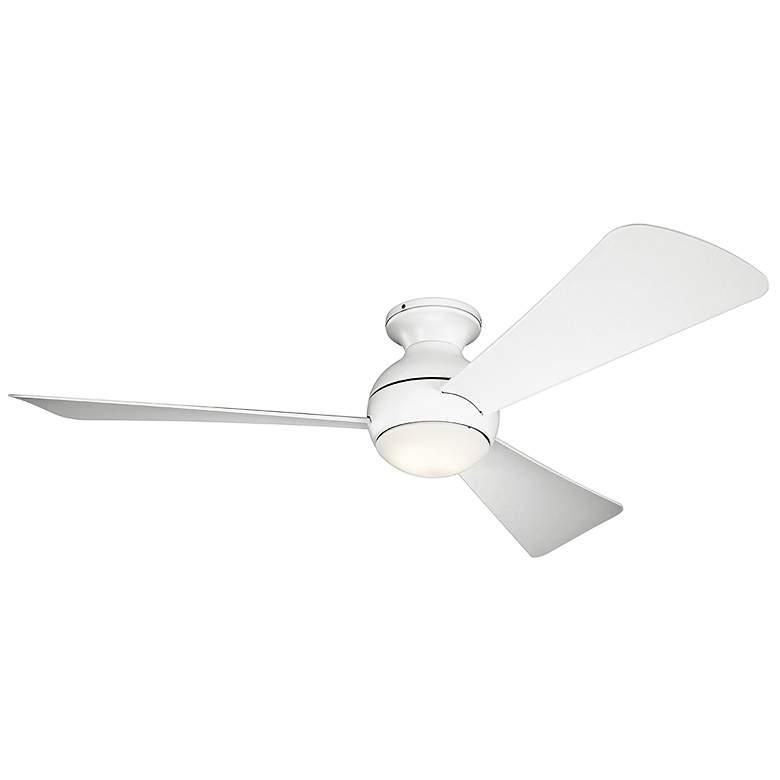 """54"""" Sola Matte White Wet LED Hugger Ceiling Fan"""