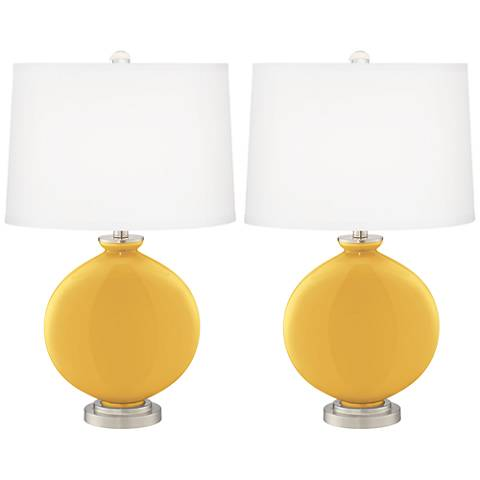 Goldenrod Carrie Table Lamp Set of 2