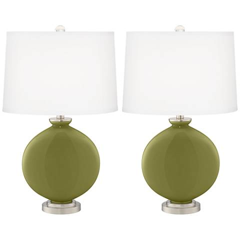 Rural Green Carrie Table Lamp Set of 2