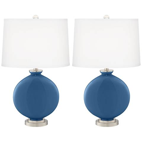 Regatta Blue Carrie Table Lamp Set of 2